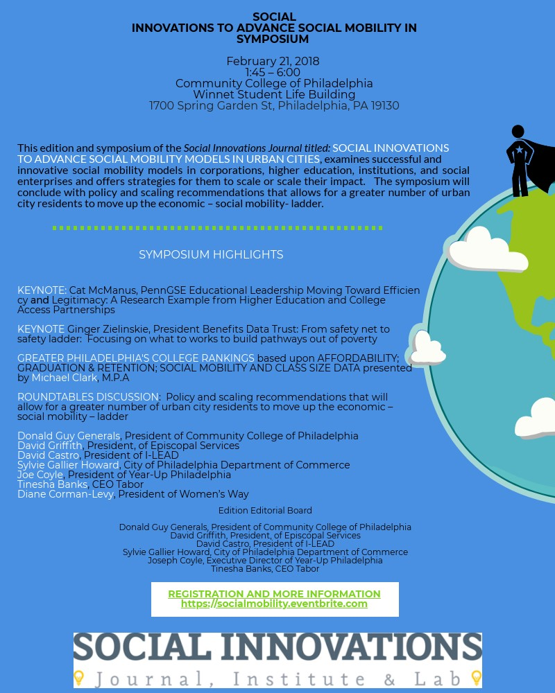 Social Innovations to Advance Social Mobility in Urban